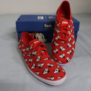 Keds Champion Disney Minnie Mouse Red Sneakers NWT
